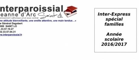 Inter-Express spécial familles n°1 (Année scolaire 2016/2017)