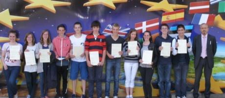 Les 3ès du collège Interparoissial reçoivent leur diplôme européen de compétence