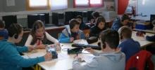 Les CM2 de l'école Interparoissiale en intégration au collège