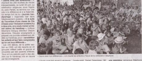 Journée handipartage pour les 240 écoliers