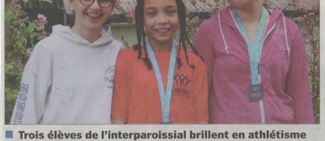 Trois élèves de l'Interparoissial brillent en athlétisme